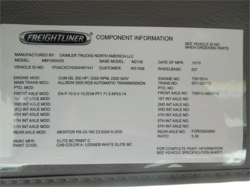 New FREIGHTLINER BUSINESS CLASS M2 106 Peach State